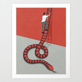 Ladder of success Art Print