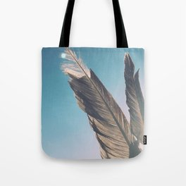 Brown Feathers Tote Bag