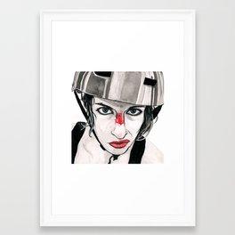 Battle Scarred Rollergirl Framed Art Print