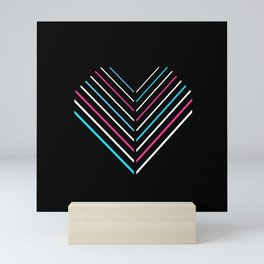 Transcend Neon Heart Mini Art Print