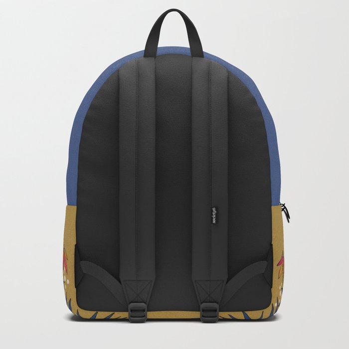 Owl in gold kingdom Backpack