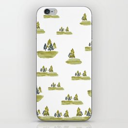 Varigated pine forest iPhone Skin
