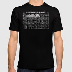 The Alchemical Table of Symbols LARGE Black Mens Fitted Tee