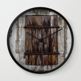 Wooden Window Wall Clock