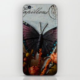Butterfly Art, Papillions, Mixed Media Collage Art iPhone Skin
