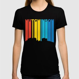 Retro 1970's Style Hutchinson Kansas Skyline T-shirt