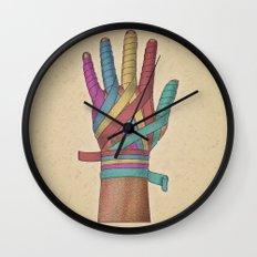 Mano vendada Wall Clock