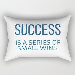 SUCCESS  IS A SERIES OF SMALL WINS Rectangular Pillow