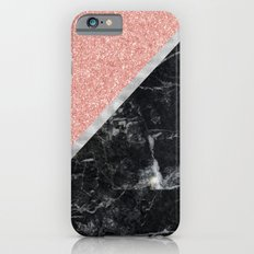Faux Rose Glitter and Marble Pattern Slim Case iPhone 6s