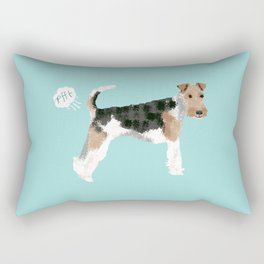 wire fox terrier funny farting dog breed pure breed pet gifts Rectangular Pillow