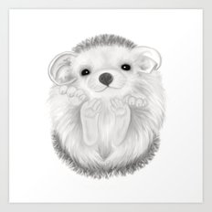 Baby Hedgehog Art Print