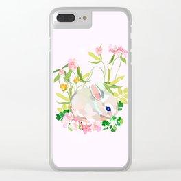springtime bunny Clear iPhone Case