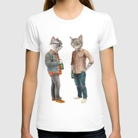 T-shirts featuring A Cats Night Out by florever