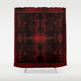 Snake Skin In Red Shower Curtain