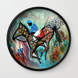 Blue Dream In The Ocean In Abstract Modern Wall Clock