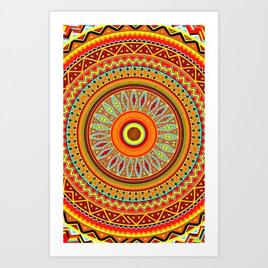 Mandala Aztec Pattern 5 Art Print