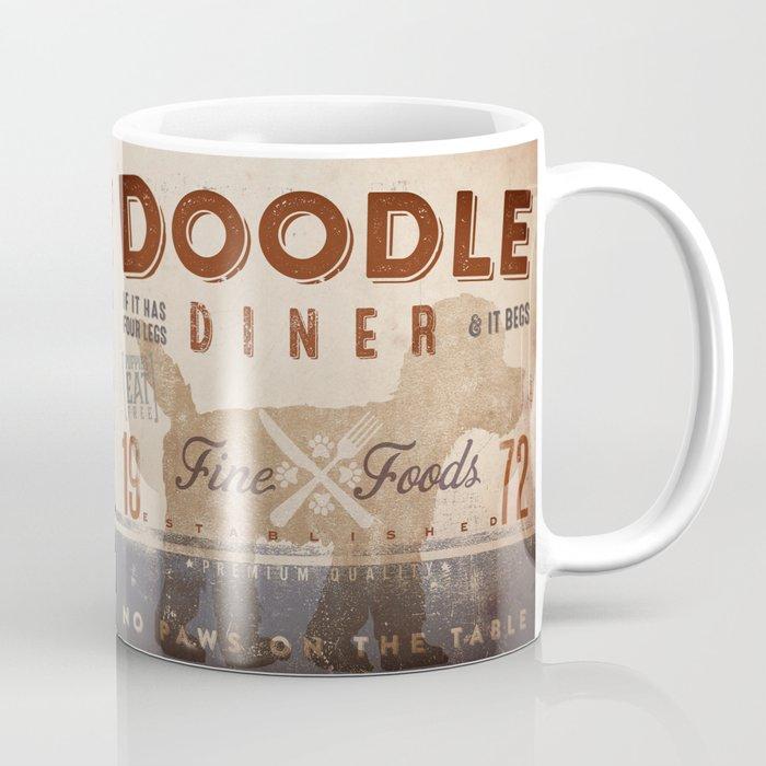 Doodle Diner Dog Kitchen Artwork By Stephen Fowler Coffee Mug