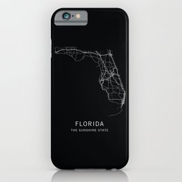 Florida State Road Map iPhone Case