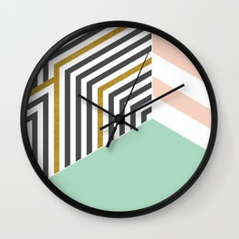 Mint&Gold Room #society6 #decor #buyart Wall Clock