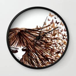 You Give Me Butterflies Wall Clock