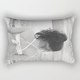 Facing Immensity Rectangular Pillow