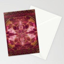 Deep Crimson Feng Shui Earth Portal Stationery Cards