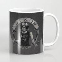 daryl Mugs featuring Daryl Dixon by Blanca Limón