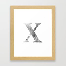 Letter X Framed Art Print