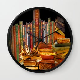 SHABBY CHIC ANTIQUE LIBRARY BOOKS, LEDGERS &  BOOKS Wall Clock