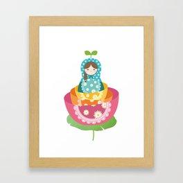Thumbelina & Russian Doll Framed Art Print