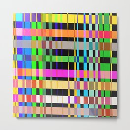 inclined coloured stripes Metal Print