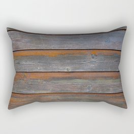 Rustic Wood Panel Boards Aged in Wyoming Rectangular Pillow