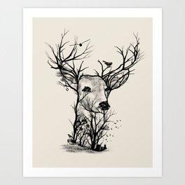 Wild Buck Art Print