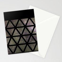 Galaxy Triangular Bicolor Stationery Cards