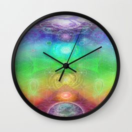 Chakra Activation Geometry Template Wall Clock