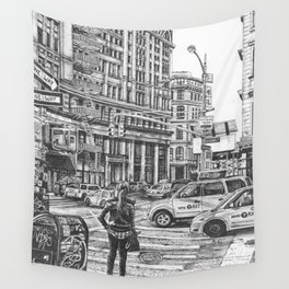 New York Taxis Wall Tapestry