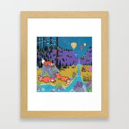Foxy Forest Framed Art Print