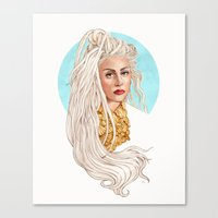 versace Canvas Prints featuring Versace Venus by Helen Green