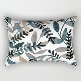 Watercolor branches - neutral Rectangular Pillow