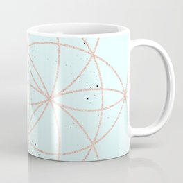 mint speckled with rose gold pattern Coffee Mug
