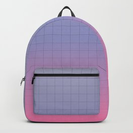 Pink and Purple Pastel Grid Aesthetic Fade Backpack