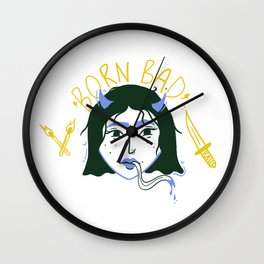 Born Bad Wall Clock