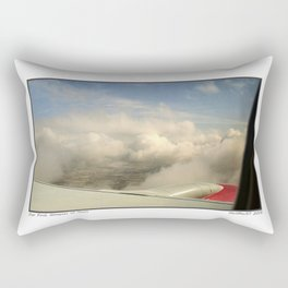 Just through the clouds Rectangular Pillow