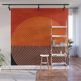 lines and shapes 1 abstract geometric Wall Mural