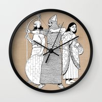 archer Wall Clocks featuring Archer by Tom Tierney Studios