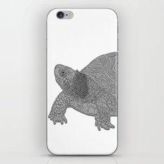 Turtle Illustration B/W iPhone & iPod Skin