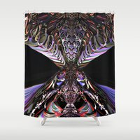mask Shower Curtains featuring Mask by GC