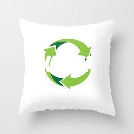 Karma Recycler Logo Throw Pillow