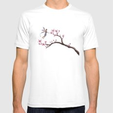 Cherry Blossom Mens Fitted Tee MEDIUM White