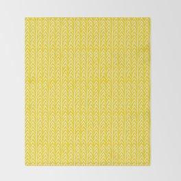Hello Yellow Throw Blanket